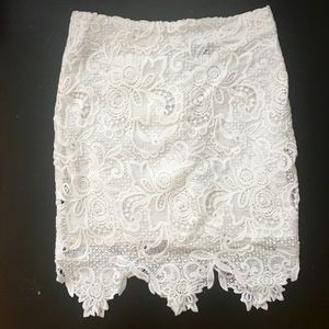 Forever 21 white lace paisley skirt
